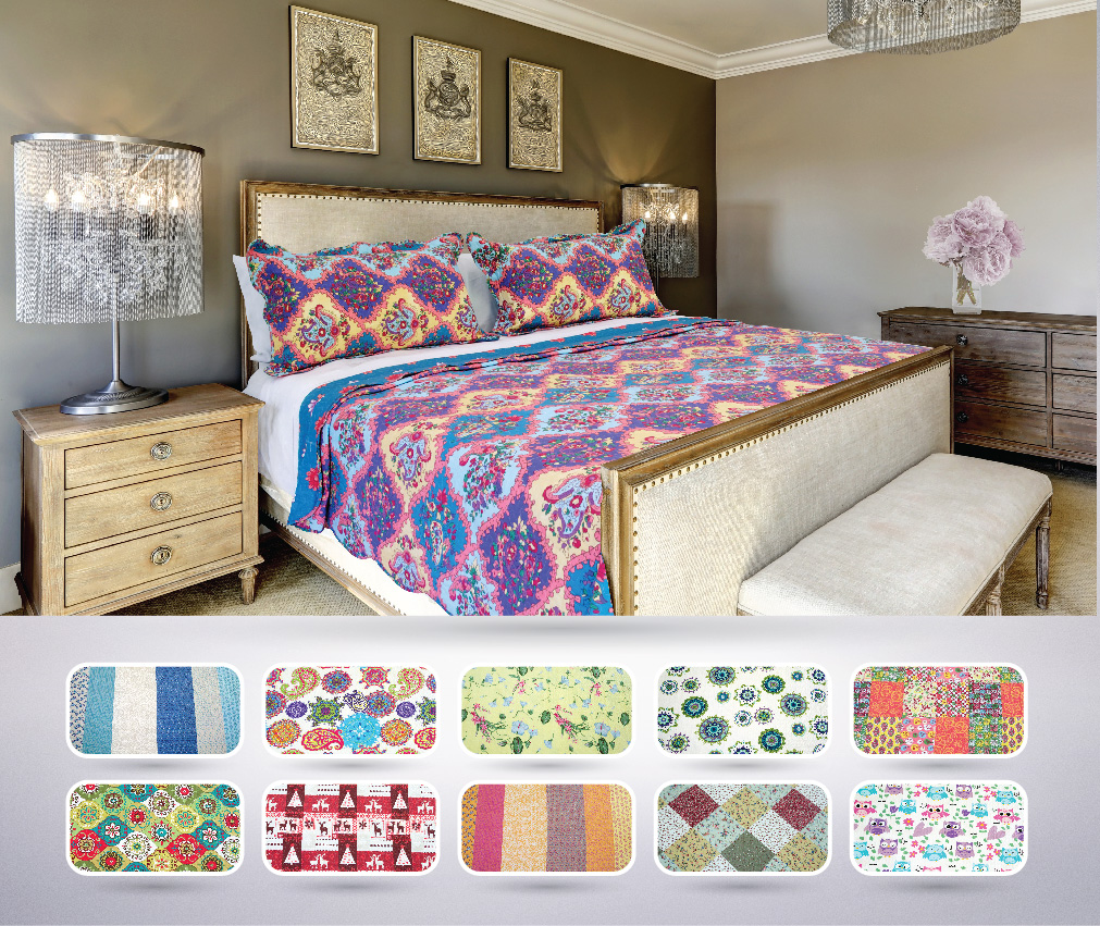 The CONNECTICUT HOME COMPANY Reversible Quilt Collection, 3-Piece ... : home quilts - Adamdwight.com